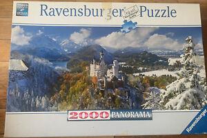 Ravensburger Neuschwanstein Castle 2000 puzzle. Beautiful Panorama