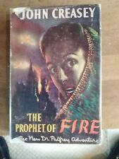 John Creasey The Prophet of Fire Hardback 1st edition