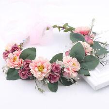 Couronne de Fleurs avec Bandeau pour Cheveux Accessoire pour Mariage Demoiselle