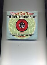 CHECK OUT TIME - THE CREST RECORDS STORY - EDDIE COCHRAN - 2 CDS - NEW!!