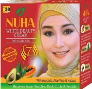 100% Original NUHA White Beauty Cream For Night Use  removes  pimples, Dark spot