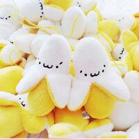 2Pc New Style  Cute Emoji Banana Soft Stuffed Plush Toy Keychain Keyring Pendant