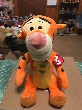 Ty Tigger -Orange/Black Sparkle *Disney Licensed* Plush Tiger Beanie Buddy!