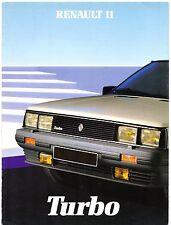 Renault 11 Turbo 1984 UK Market Foldout Sales Brochure