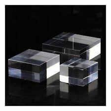 Socle présentoir acrylique support pour minéraux. 3 pièces. 50 x 50 x 20 mm