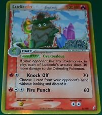 Holo Foil Ludicolo 6/100 Gold Lettering EX Crystal Guardians Pokemon Cards NM
