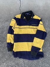 Vintage Polo Sport Ralph Lauren Mens Stripped Polo Shirt Long Sleeve Rugby
