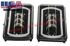 4 x 6 Inch LED Headlight Square Bulb Hi/Low Crystal Clear Sealed Beam DRL 2PCS