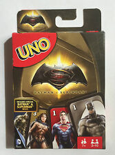 UNO CARDS BATMAN V SUPERMAN ICLUDES BATMAN V SUPERMAN SPECIALM RULES.