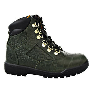 Timberland 6 Inch Premium Field Big Kids' Field Boot Green TB0A1Q4N