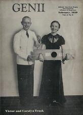 Feb 1935 Genii Magic Magazine - Victor & Carolyn Trask - Nice Condition