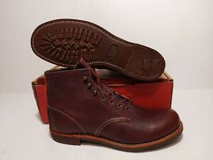 """RED WING MEN'S  6"""" 3340 BLACKSMITH BRAIR OIL  LEATHER BOOTS SIZE: 8"""