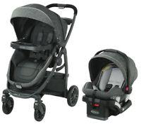 Graco Baby Modes BassinetTravel System Stroller w/ Infant Car Seat Wynton