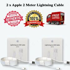 2 xOEM 2M Lightning USB Cable Apple iPhone 7 6s 6 Plus 55s Data Sync Charger Box