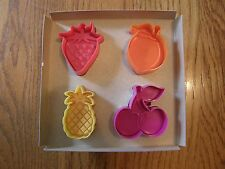 Williams Sonoma Summer Fruit Pie Crust/Cookie Cutters-Peach,Cherry,Strawberry,