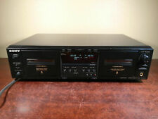 SONY TC-WE475 STEREO CASSETTE DECK TAPE PLAYER RECORDER *tested, works*