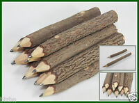 2 Pcs Wooden pencils twig Tamarind sticks handmade natural length 9 cm DIY Gift