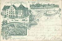 Ansichtskarte Rheinfelden Salmenbräu Restauration Rheinlust 1902 (Nr.9505)