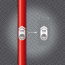 MS012-Fixie para la vida-motivacionales Ciclismo Bicicleta Calcomanía/Pegatina
