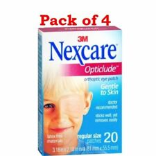 Nexcare Opticlude Orthoptic Eye Patches Gentle to Skin, 20 count (PACK OF 4)