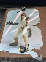 Vintage 1977 Star Wars Poster Luke Skywalker With Weapon Movie Poster