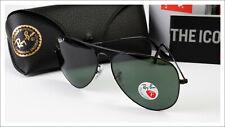 Ray-Ban 3026 Black Aviator Sunglasses Polarized Large 62mm