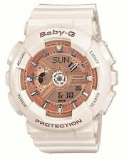Casio Baby-G Ladies Wrist Watch BA-110-7A1JF White Gold 43.4mm Quartz JAPAN NEW