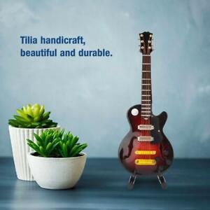 Guitar Model Mini Tilia Wooden Musical Instruments Support Home Decor Ornaments