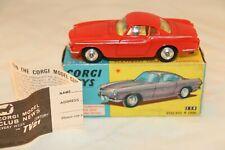 Corgi Toys 228 Volvo P. 1800 rare Scarce orange red PERFECT mint in box