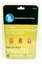 3 Pack Replacement Needles for Innovative Technology Turntables ITRRS-300