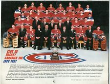 CALENDRIER 1987-88 - *** CANADIENS DE MONTREAL ***!! FREE SHIPPING