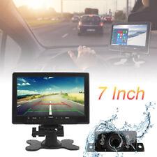 7'' TFT LCD Screen Car Rear View Monitor AV/VGA/HDMI+7 Lights Reverse Camera Kit