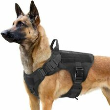 Dog Harness Military Tactical Leash Walking Metal Buckle Thick Material Vest