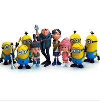NEW 12 pcs/SET Despicable Me 2 Minions Movie Character Figures Doll Toy Gift