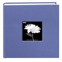 NEW Fabric Frame Cover Photo Album 200 Pockets Hold 4x6 Photos Sky Blue