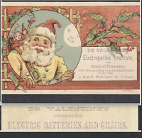 Quack Santa 1800's Electric Chair Cure Dr Valentine Electropathic Institute Card