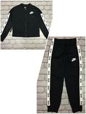 NIKE AIR GIRLS POLY TAPE BLACK TRACK TOP / PANTS CHILDRENS *SOLD SEPARATELY*