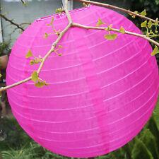 Outdoor Neonfarben Pink Nylon Lampenschirm Lampion Laterne 40cm Schirm Lampe