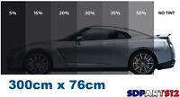 30metres X 76cm Film Teinté Pellicule Vitres Auto Noir Fenêtre 3% 5% 20% 35% 50%