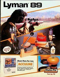 Lyman 89 Catalog 1989 Reloading Kits Hunting Guns Middlefield Ct