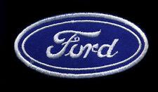 Ford patch badge oval retro hot rod drag race roadster jacket vest hat