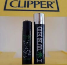 Clipper Lighters x2 Cool Rare THC Micro/Normal Matching New Gift Smoke Amsterdam