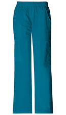 Scrubs Cherokee Workwear Petite Mid Rise Cargo Pant 4005P Carw Caribbean Blue