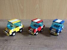 Lego 3x Auto, Car, gelb, rot, blau, Stadt City System Eigenbau MOC