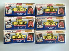 Lot of (6) 1990-91 Score Hockey 445 Card Factory Sets-  Brodeur & Jagr Rookie