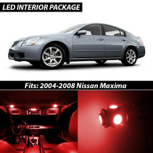 Red Interior LED Lights Package Kit for 2004-2008 Nissan Maxima