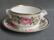 ROYAL WORCESTER ROYAL GARDEN FLAT SOUP BOWL AND UNDERPLATE 1ST QUAL (Ref3365)