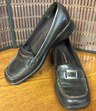 Naturalizer womens shoes leather loafers size 7.5 M brown F12