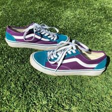 Vans T375 Purple Turquoise Sneaker Shoes Skate Surf Mens 6 Womens 7.5
