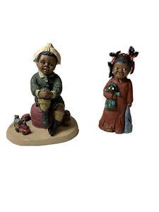 All Gods Children Figurine Prissy #99 John #87 African American Children